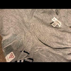 Brand New Bling Grey&Black Guess Tshirt